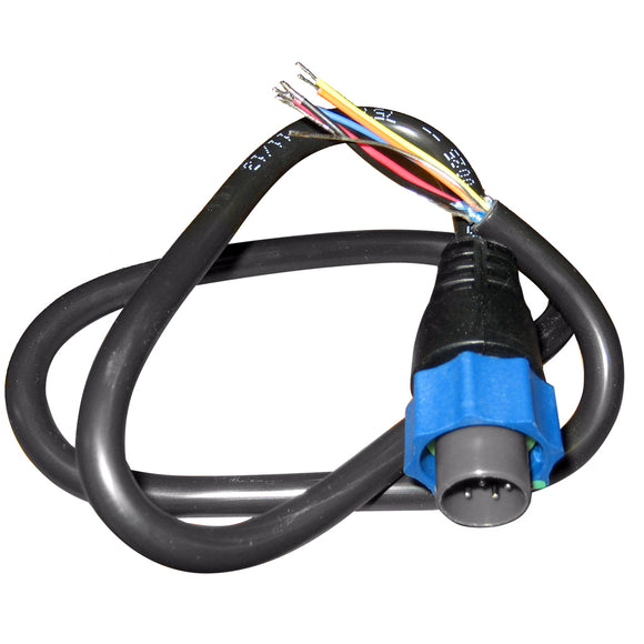Lowrance Adapter Cable 7-Pin Blue to Bare Wires [000-10046-001] - Lowrance