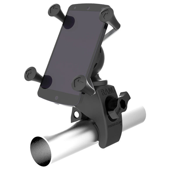 RAM Mount Tough-Claw Mount w-Universal X-Grip Phone Holder [RAM-HOL-UN7-400U] - RAM Mounting Systems
