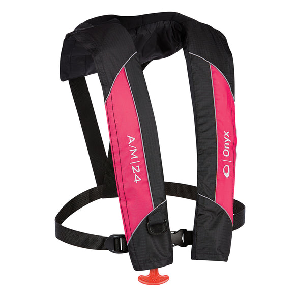 Onyx A-M-24 Automatic-Manual Inflatable PFD Life Jacket - Pink [132000-105-004-14] - Onyx Outdoor