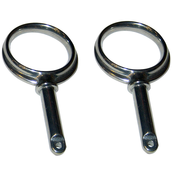 Perko Round Type Rowlock Horns - Chrome Plated Zinc [1267DP0CHR] - Perko