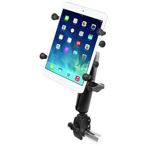 "RAM Mount Tough-Claw Base w-Long Double Socket Arm & Universal X-Grip Cradle w-1"" Ball f-7"" Tablets [RAM-B-400-C-UN8U] - RAM Mounting Systems"