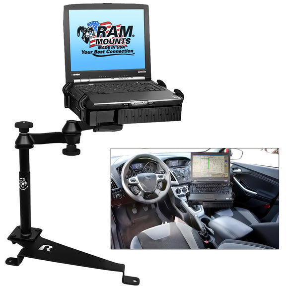 RAM Mount No-Drill Laptop Mount f-Dodge Journey, Ford Escape, Ford Focus, Jeep Compass & Jeep Patriot [RAM-VB-188-SW1] - RAM Mounting Systems