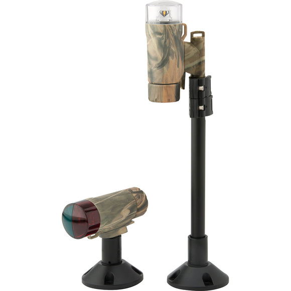 Attwood PaddleSport Portable Navigation Light Kit - Screw Down or Adhesive Pad - RealTree Max-4 Camo [14193-7] - Attwood Marine