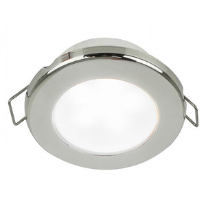 "Hella Marine EuroLED 75 3"" Round Spring Mount Down Light - White LED - Stainless Steel Rim - 24V [958110621] - Hella Marine"