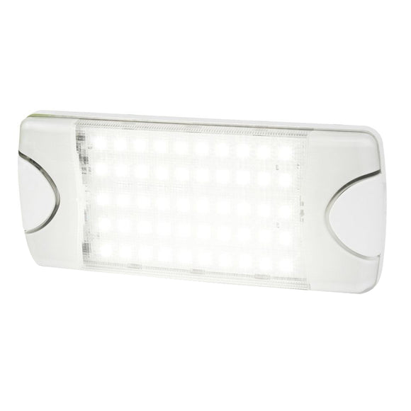 Hella Marine DuraLED 50 Low Profile Interior-Exterior Lamp - White LED Spreader Beam [980629001]