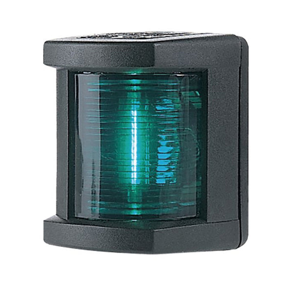 Hella Marine Starboard Navigation Lamp- Incandescent - 1nm - Black Housing - 12V [003562025] - Hella Marine
