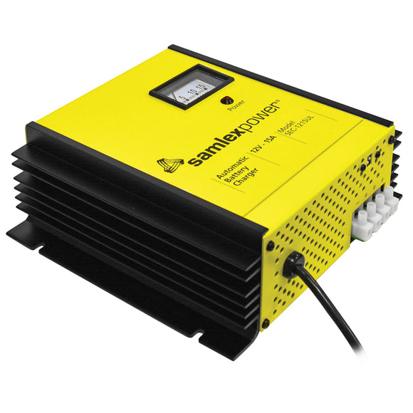 Samlex 15A Battery Charger - 12V - 3-Bank - 3-Stage w/Dip Switch  Lugs [SEC-1215UL]