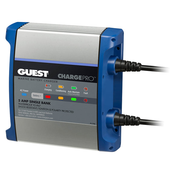 Guest On-Board Battery Charger 5A - 12V - 1 Bank - 120V Input [2708A]