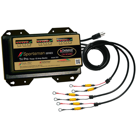 Dual Pro Sportsman Series Battery Charger - 30A - 3-10A-Banks - 12V-36V [SS3] - Dual Pro