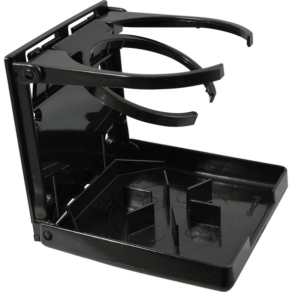 Attwood Fold-Up Drink Holder - Dual Ring - Black [2445-7] - Attwood Marine