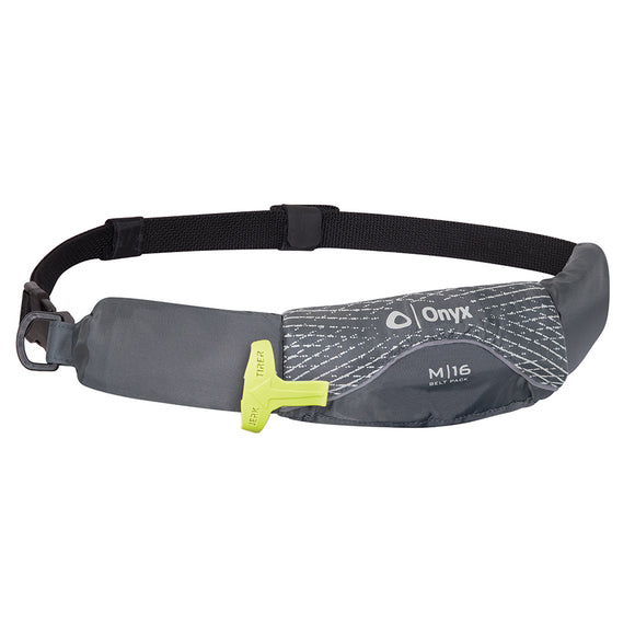 Onyx M-16 Manual Inflatable Belt Pack (PFD) - Grey [130900-701-004-19] - Onyx Outdoor