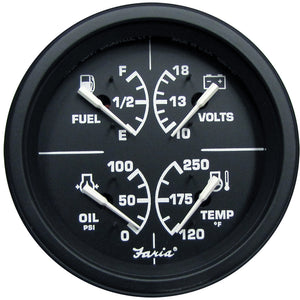 "Faria Heavy-Duty 4"" Multifunction [Fuel Level 