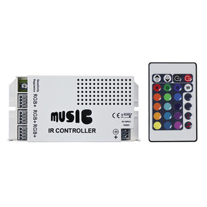 HEISE Sound Activated RGB Controller w-IR Remote [HE-RGBSAC-1] - HEISE LED Lighting Systems