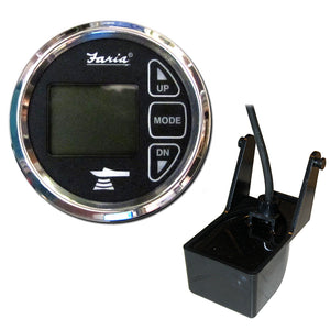 "Faria 2"" Dual Depth Sounder w-Air  Water Temp Transom Mount Transducer - Chesapeake SS Black [13752] - Faria Beede Instruments"