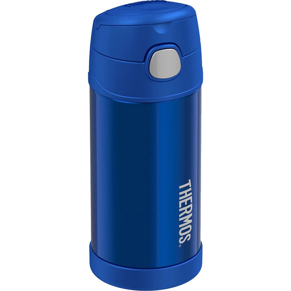 Thermos FUNtainer Stainless Steel Insulated Blue Water Bottle w/Straw - 12oz [F4019BL6]