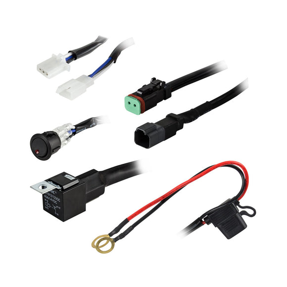 Heise 1 Lamp DR Wiring Harness  Switch Kit [HE-SLWH1] - HEISE LED Lighting Systems