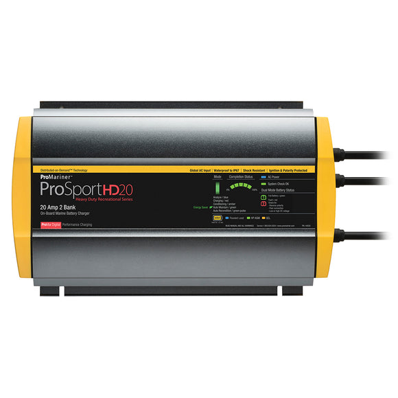 ProMariner ProSportHD 20 Gen 4 - 20 Amp - 2 Bank Battery Charger [44020] - ProMariner