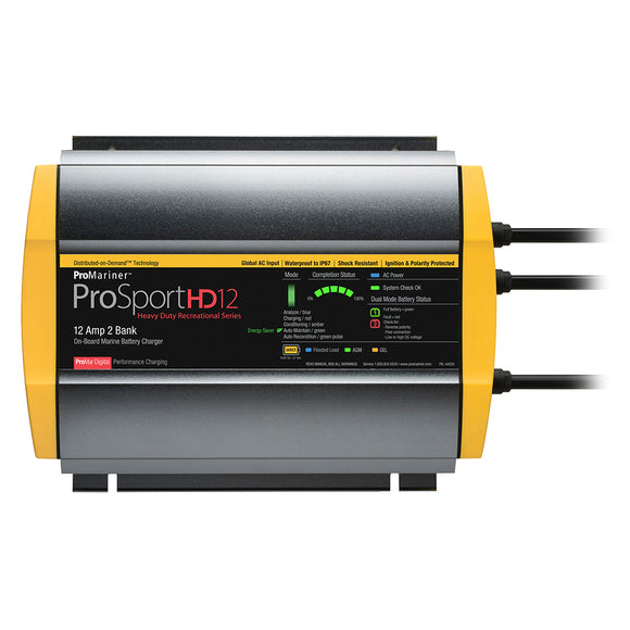 ProMariner ProSportHD 12 Global Gen 4 - 12 Amp - 2 Bank Battery Charger [44026] - ProMariner
