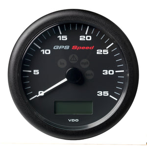 "Veratron 4-1/4"" (110MM) ViewLine GPS Speedometer 0-35 KNOTS/KMH/MPH - 8 to 16V Black Dial  Bezel [A2C59501782]"