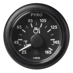 "Veratron 52 MM (2-1/16"") ViewLine Pyrometer - 250 to 1650F - Black Dial  Bezel [A2C59512334]"