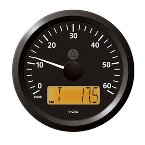 "Veratron 3-3/8"" (85 mm) ViewLine Speedometer - 0 to 60 KMH - 12/24V - Black Dial  Triangular Bezel [A2C59512367]"