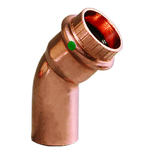 "Viega ProPress 1/2"" - 45 Copper Elbow - Street/Press Connection [77637]"
