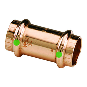 "Viega ProPress 1/2"" Copper Coupling w/Stop - Double Press Connection - Smart Connect Technology [78047]"
