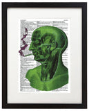 "Psychedelic Smoker 8.5""x11"" Semi Translucent Dictionary Art Print"