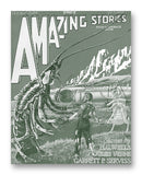 "Amazing Stories (1926) - 11"" x 14"" Mono Tone Print (Choose Your Color)"