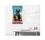 "I Never Realized How Funny I Was Until I Started Talking To Myself 13""x22"" Vintage Style Showprint Poster - Home Nostalgia Decor Wall Art Print - Lammy Artist Edition"