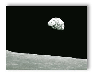 Apollo 8 Earth Rise - 11x14 Monotoned Print