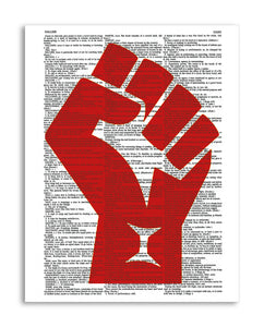 "Resist 8.5""x11"" Semi Translucent Dictionary Art Print"