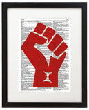 "Resist 8.5""x11"" Dictionary Art Print"