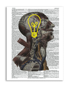 "Psychedelic Mind 8.5""x11"" Semi Translucent Dictionary Art Print"