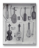 "Bowed String Instruments 1 - 11"" x 14"" Mono Tone Print (Choose Your Color)"