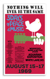 "Woodstock Aquarian Exposition 13""x22"" Vintage Style Showprint Poster - Concert Bill - Home Nostalgia Decor Wall Art Print"