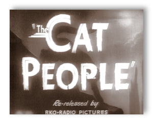 "The Cat People - 11"" x 14"" Mono Tone Print (Choose Your Color)"
