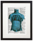 "Psychedelic Anatomy 5 8.5""x11"" Dictionary Art Print"