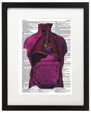 "Psychedelic Anatomy 6 8.5""x11"" Semi Translucent Dictionary Art Print"
