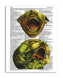 "Psychedelic Anatomy 8 8.5""x11"" Semi Translucent Dictionary Art Print"
