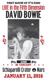 "Live in the Fifth Dimension - David Bowie - 13"" x 22"" Vintage Style Show Print Poster"