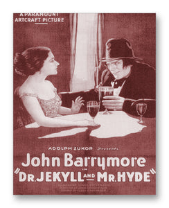 "Dr. Jekyll and Mr. Hyde 1920 - 11"" x 14"" Mono Tone Print (Choose Your Color)"