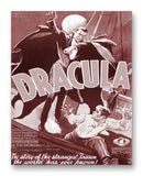 "Dracula Movie Poster - 11"" x 14"" Mono Tone Print (Choose Your Color)"
