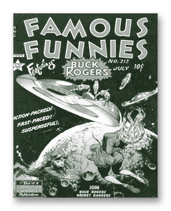 "Famous Funnies No. 212 - 11"" x 14"" Mono Tone Print (Choose Your Color)"