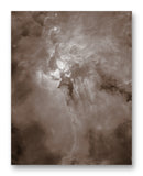 "Lagoon Nebula - 11"" x 14"" Mono Tone Print (Choose Your Color)"