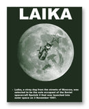 "Laika the Space Dog - 11"" x 14"" Mono Tone Print (Choose Your Color)"