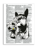 "Laughing Horse 8.5""x11"" Semi Translucent Dictionary Art Print"