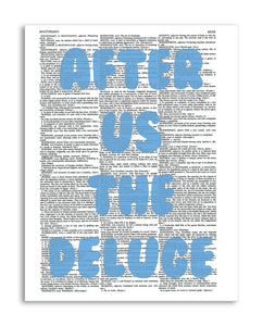 "The Deluge 8.5""x11"" Semi Translucent Dictionary Art Print"