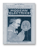"Modern Electrics 11/1911 - 11"" x 14"" Mono Tone Print (Choose Your Color)"