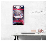 "What Do We Want? Time Travel! When Do We Want It? Its Irrelevant! 13""x22"" Vintage Style Showprint Poster - Home Nostalgia Decor Wall Art Print (Wormhole) - Jacob Andrew Dodge Artist Edition"